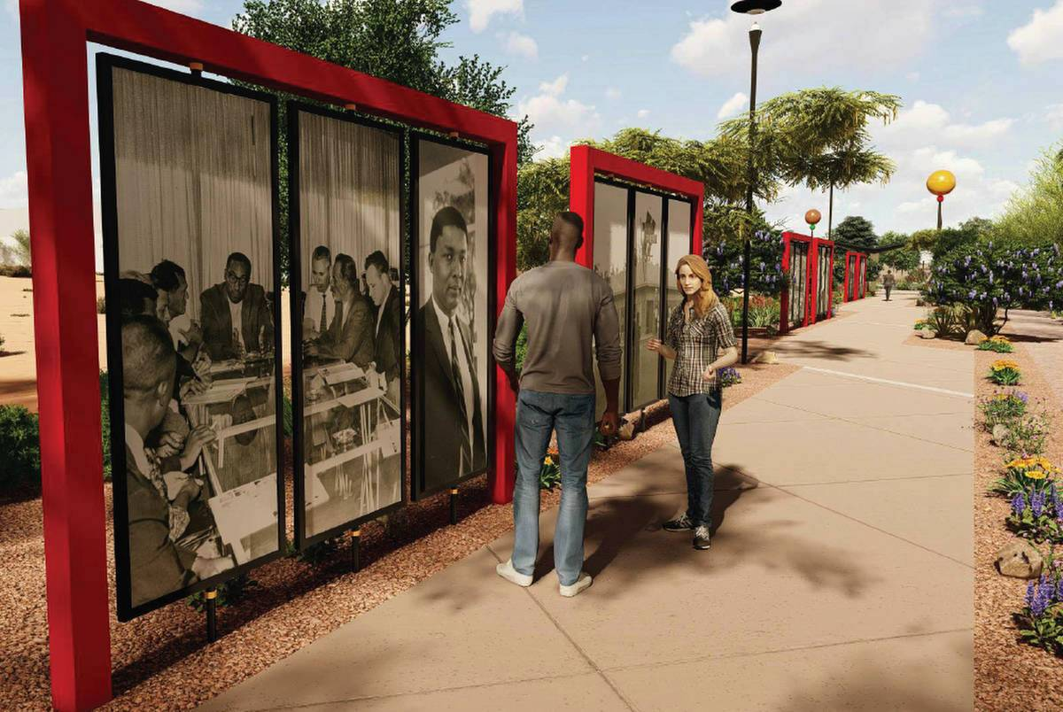 Artists rendering of the future Historic Westside Legacy Park in Las Vegas. (City of Las Vegas)