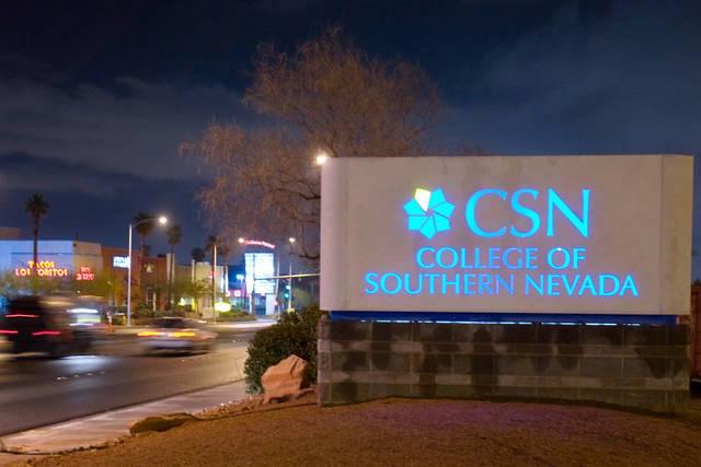 CSN sign at night