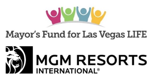 Mayor's Fund for Las Vegas LIFE and MGM Resorts International Logos