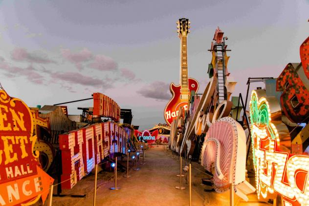 Courtesy Neon Museum - The Neon Museum's outdoor boneyard display with plenty of room for social distancing is a selling point as the museum woos visitors during the pandemic.